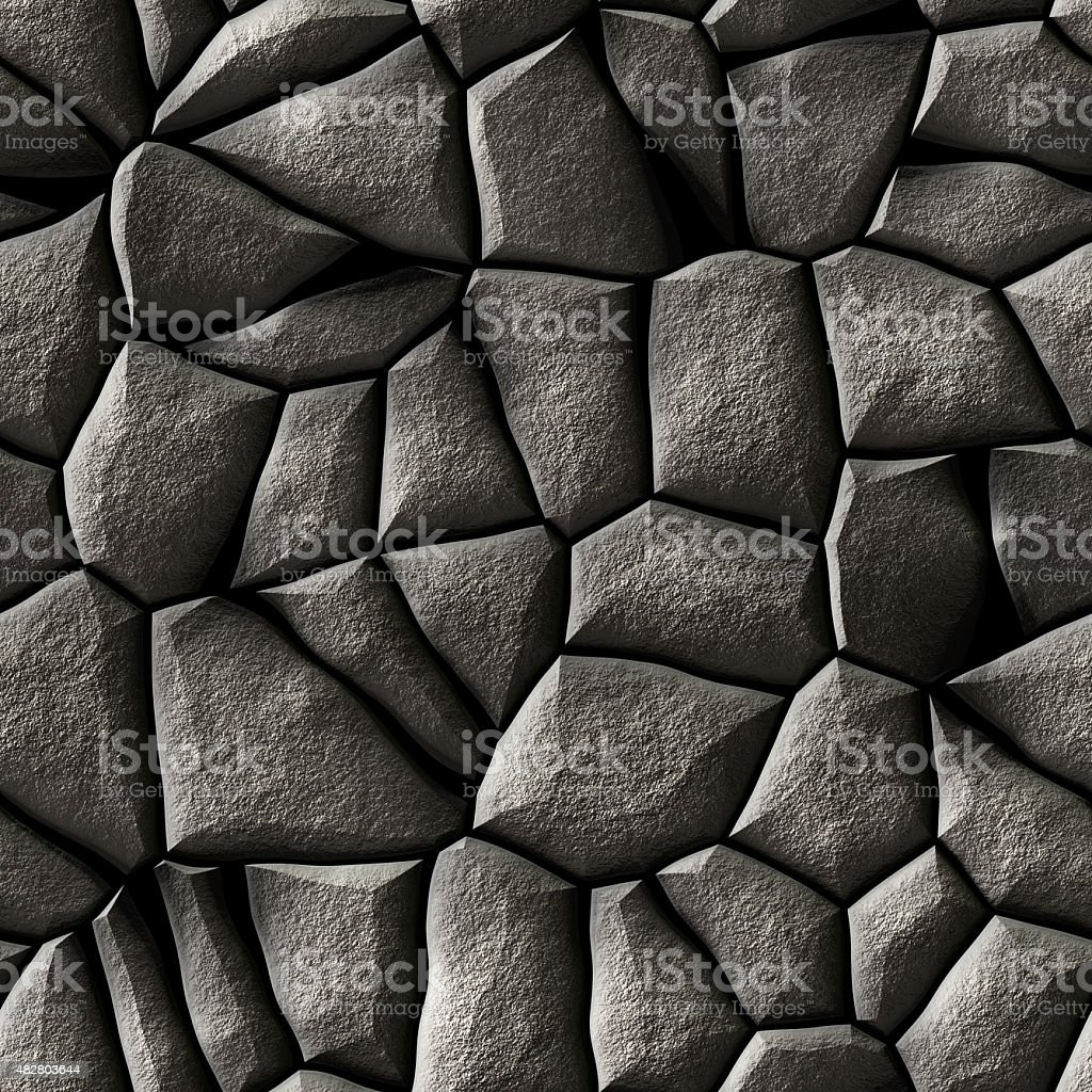 ornate cobble stone pavement texture - stones stock photo