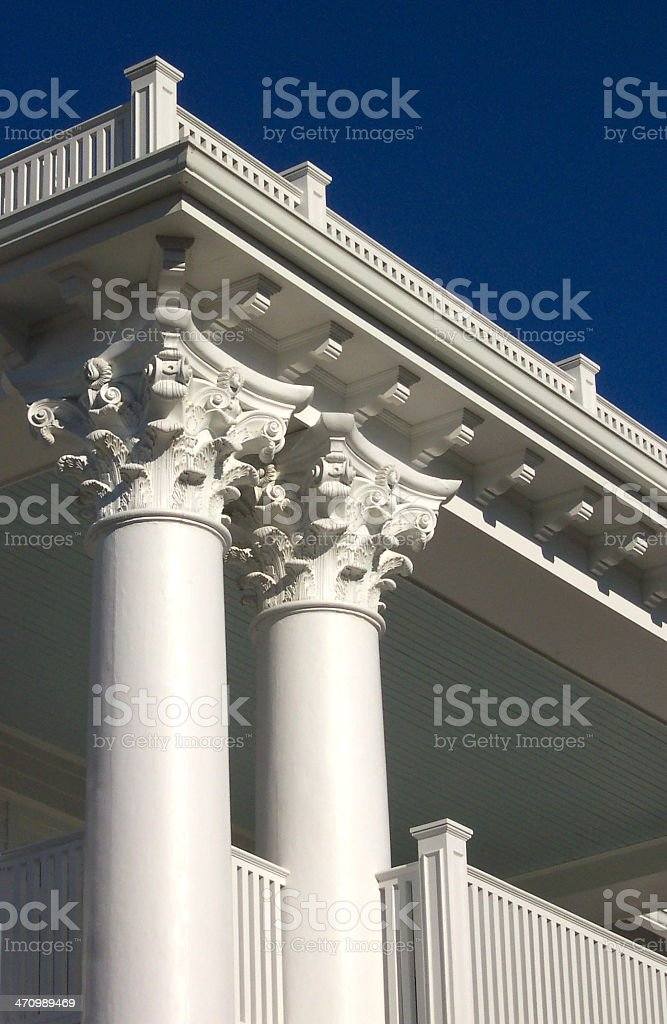 Ornate Columns royalty-free stock photo