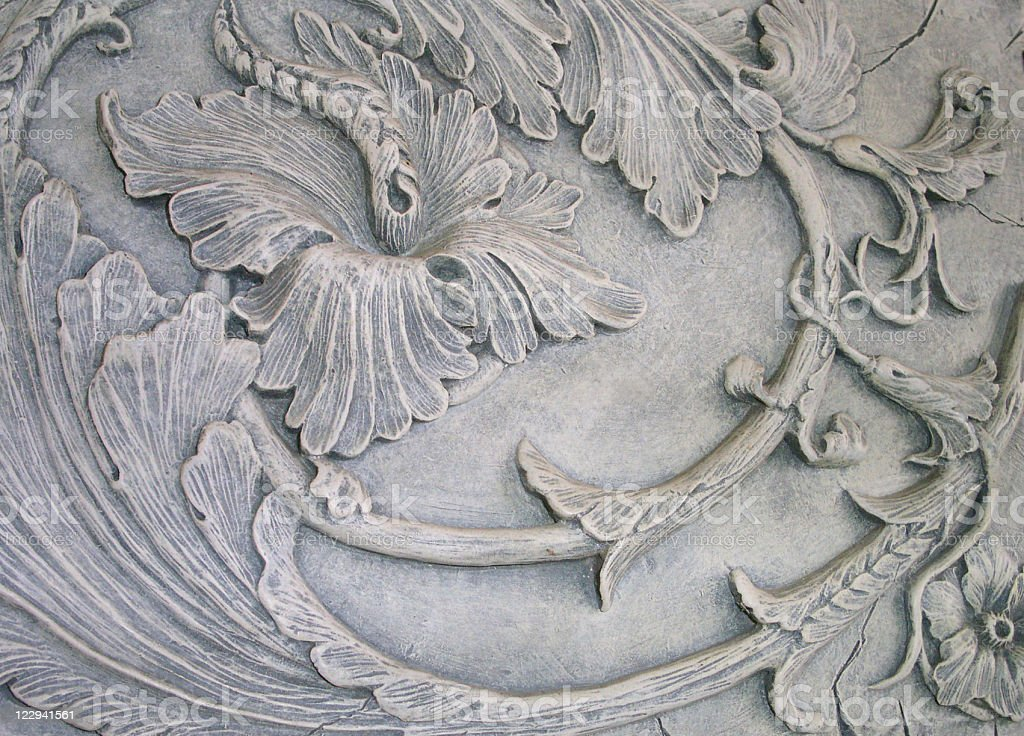 Ornate Detail on a Wall royalty-free stock photo