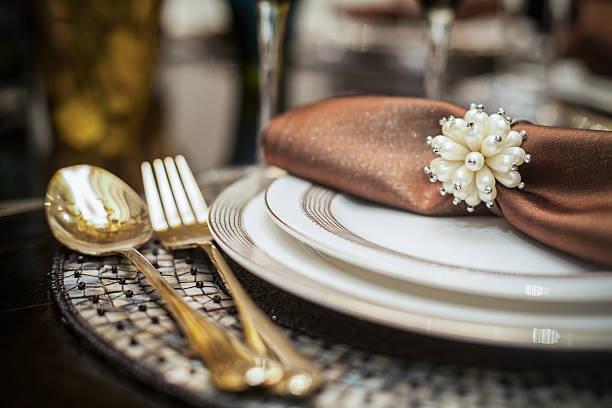 Ornate Dinner Setting stock photo