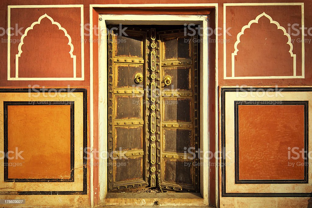 Ornate Door in India royalty-free stock photo