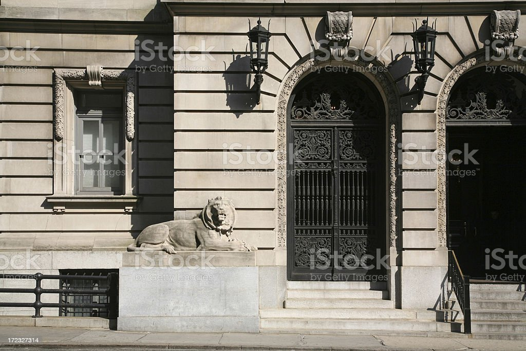 Ornate Doorway To Residential Building stock photo
