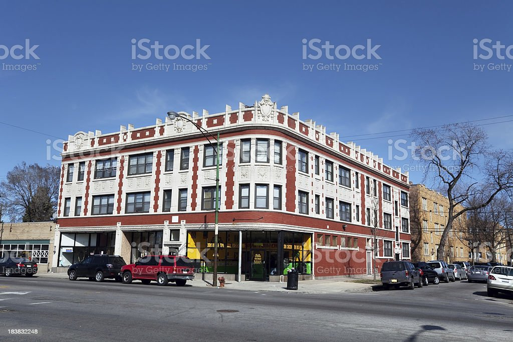Ornate Edwardian Terra Cotta commercial building in Chicago royalty-free stock photo