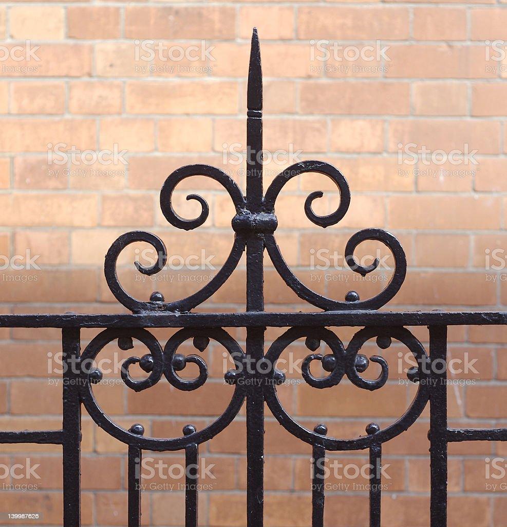 Ornate Fence royalty-free stock photo