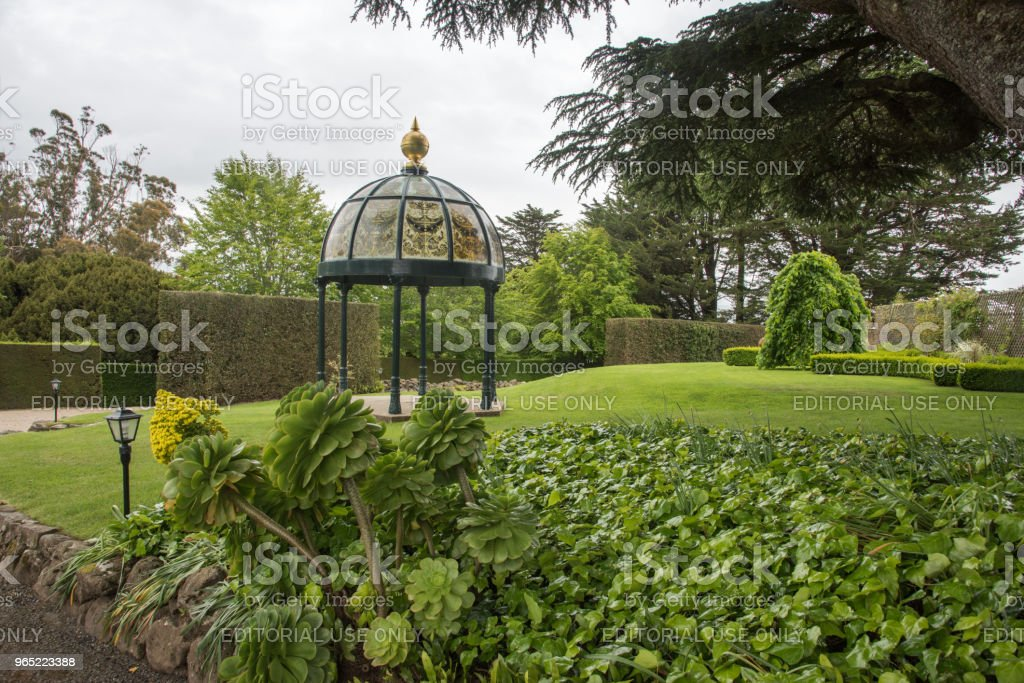 Ornate Garden Gazebo royalty-free stock photo