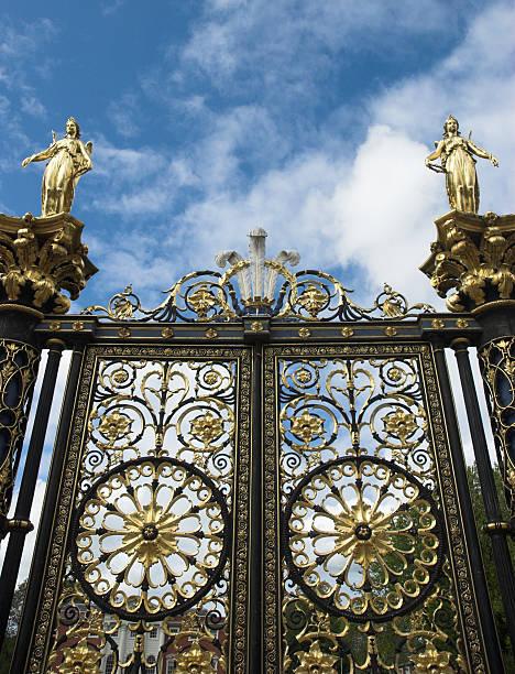 Ornate gate stock photo