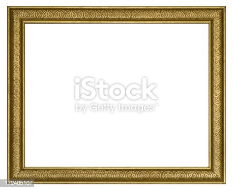 istock Ornate Gilded Picture Frame 8X10 Aspect Ratio.  Isolated w/Clipping Path 172405107