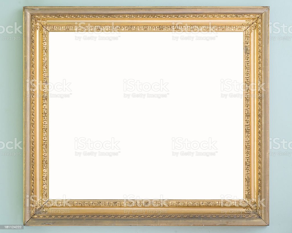 Ornate Gilted Frame: DuckEgg Surround royalty-free stock photo