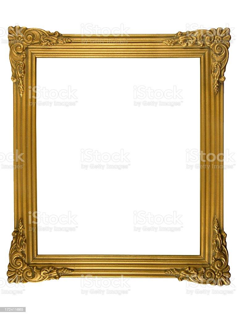 Ornate gold frame stock photo