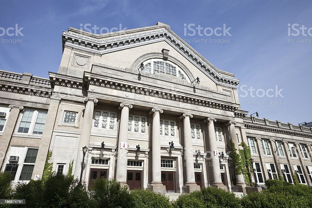 Ornate High School in Chiacgo royalty-free stock photo
