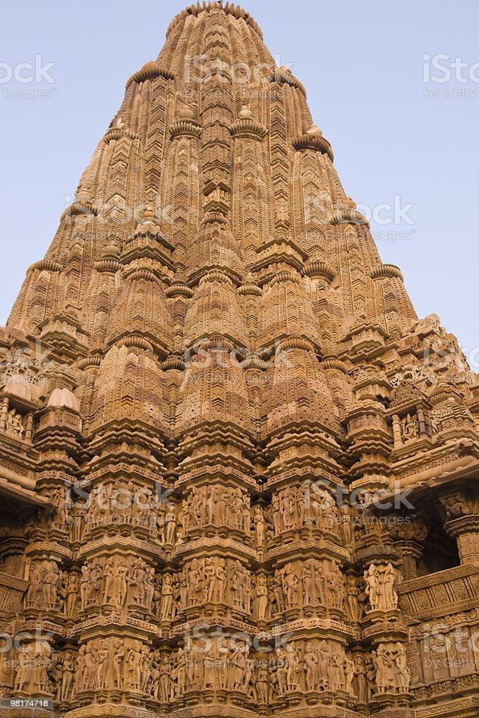 Ornate Hindu Temple At Khajuraho royalty-free stock photo