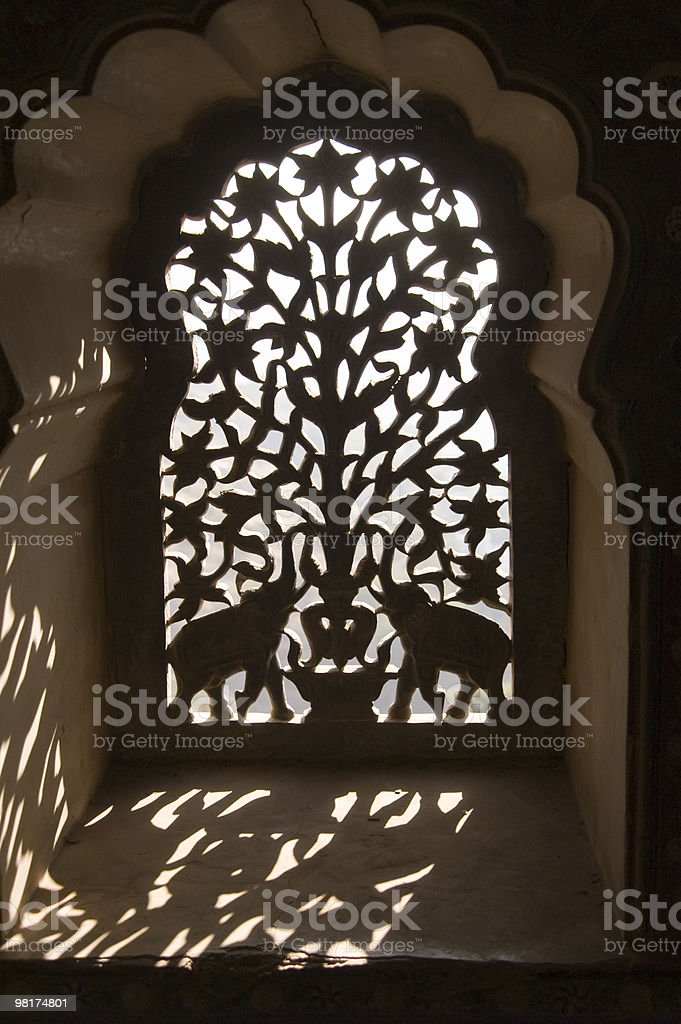 Ornate Indian Window Screen royalty-free stock photo