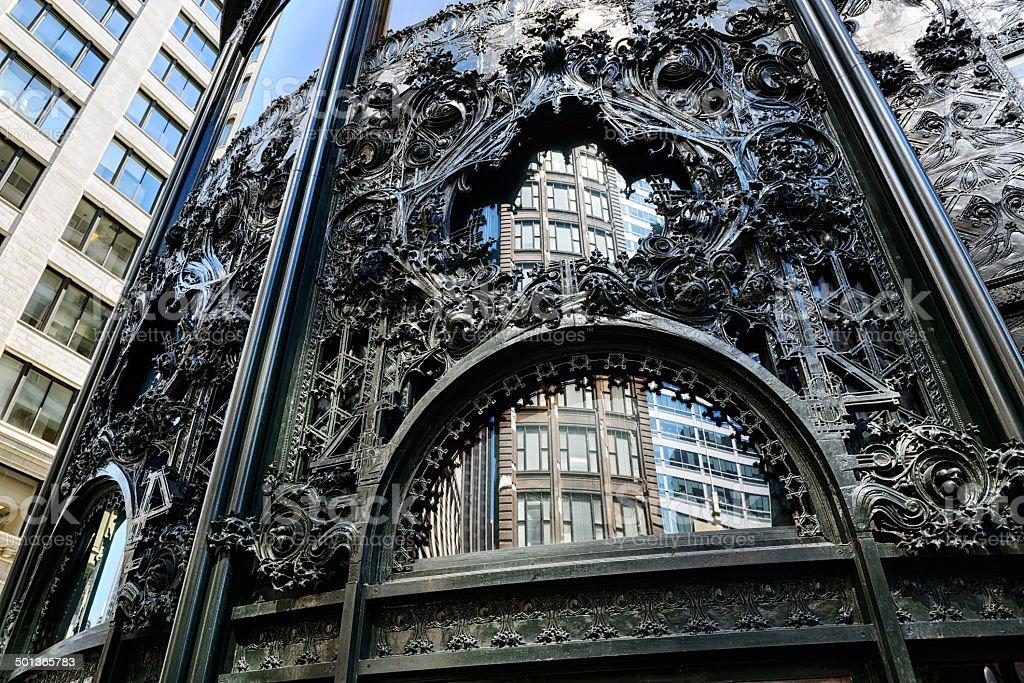 Ferronnerie du bâtiment emblématique de Chicago - Photo