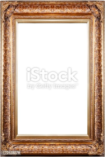 Ornate Large Antique Frame Blank Copper Gold Isolated Xxl Carved ...