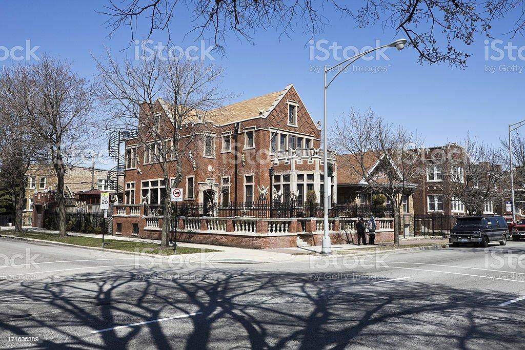 Ornate Mansion Southwest Chicago royalty-free stock photo