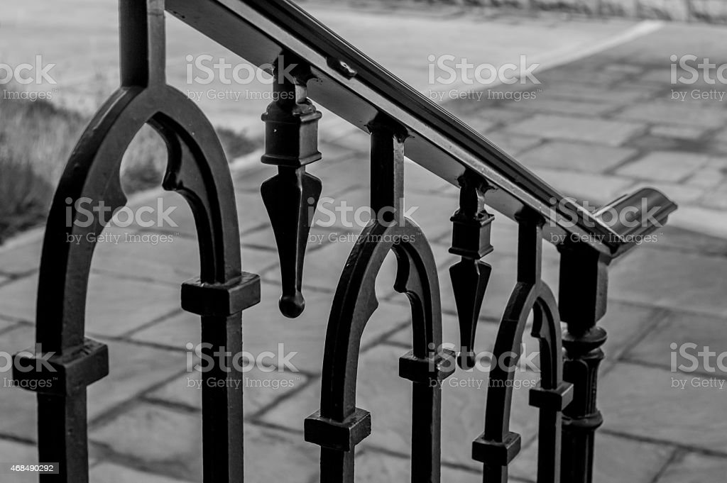 Ornate Metal Railing stock photo
