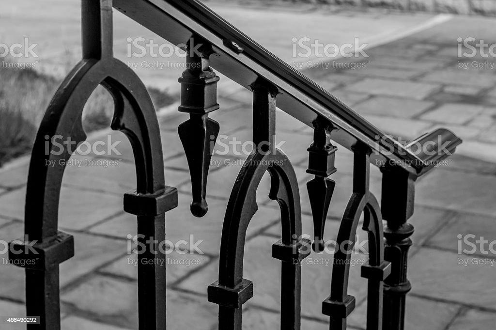 Ornate Metal Railing stock photo