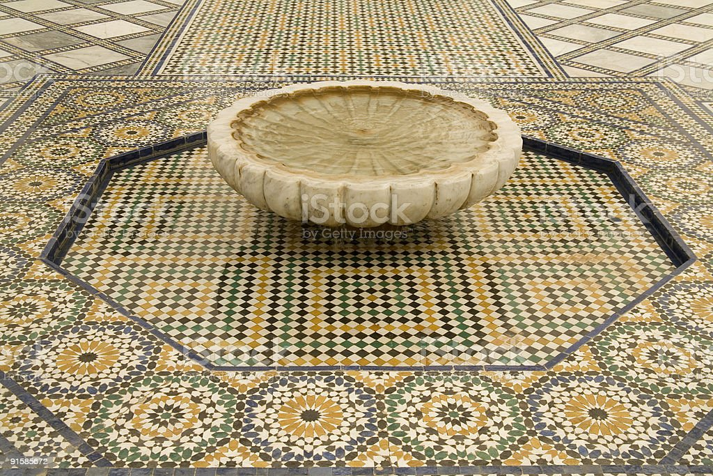 Ornate Moroccan Fountain royalty-free stock photo