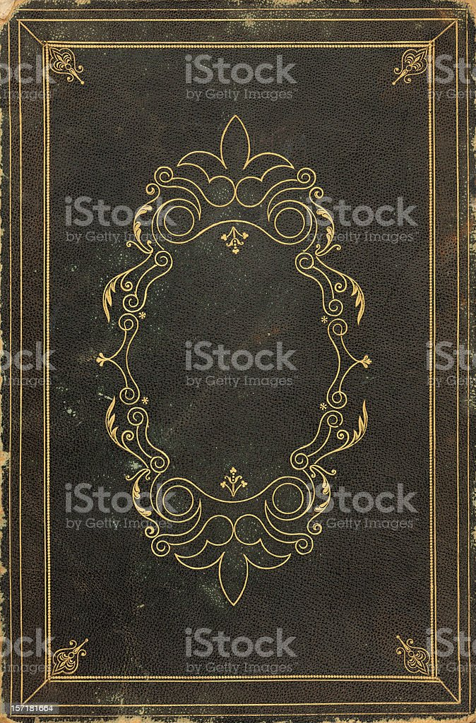 ornate old book cover stock photo