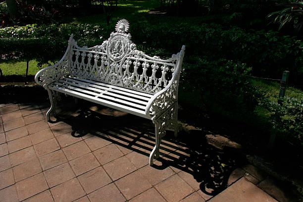 Ornate Park Bench stock photo