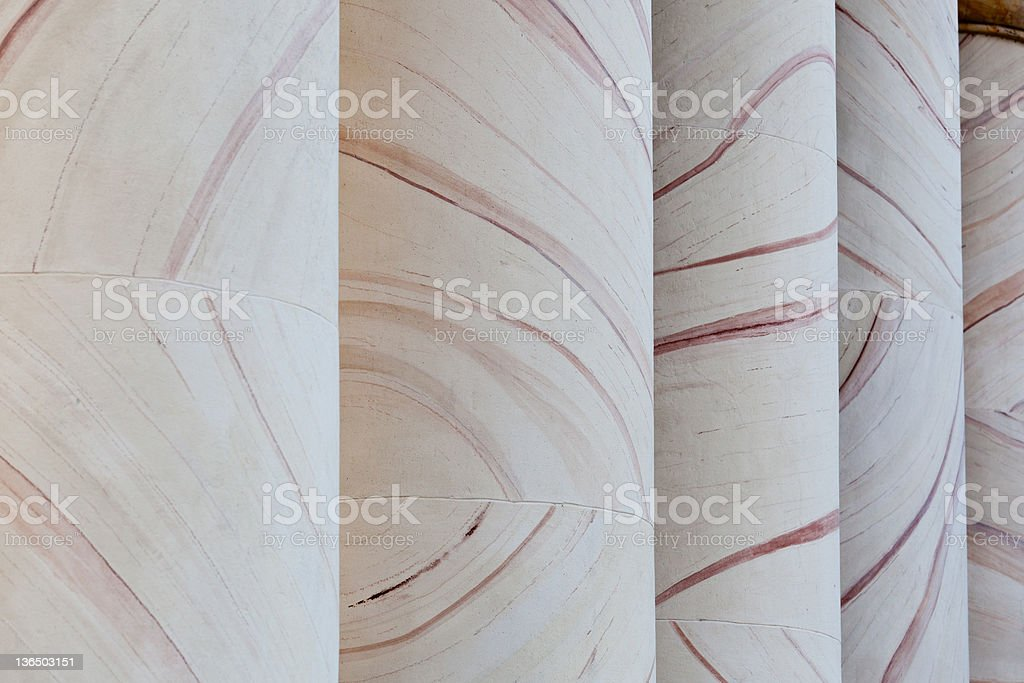 Ornate patterns in columns at Curtis house royalty-free stock photo