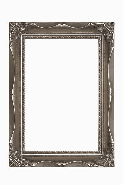 Ornate Pewter Picture Frame.  5X7 Aspect Ratio.  Isolated w/Clipping Path stock photo