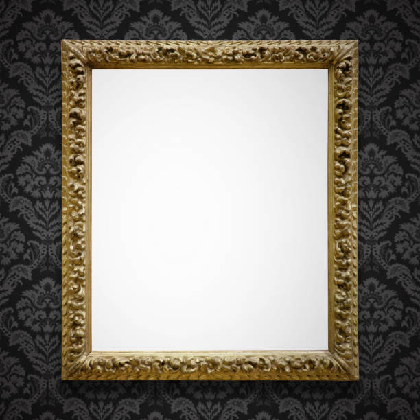 ornate picture frame (all clipping paths included) - art deco stock photos and pictures