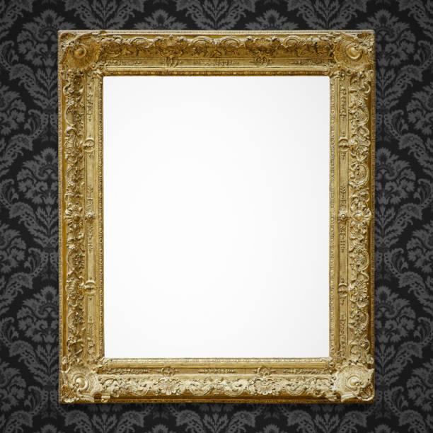 reich verzierte bilderrahmen (alle beschneidungspfade enthalten) - französisches haus dekor stock-fotos und bilder