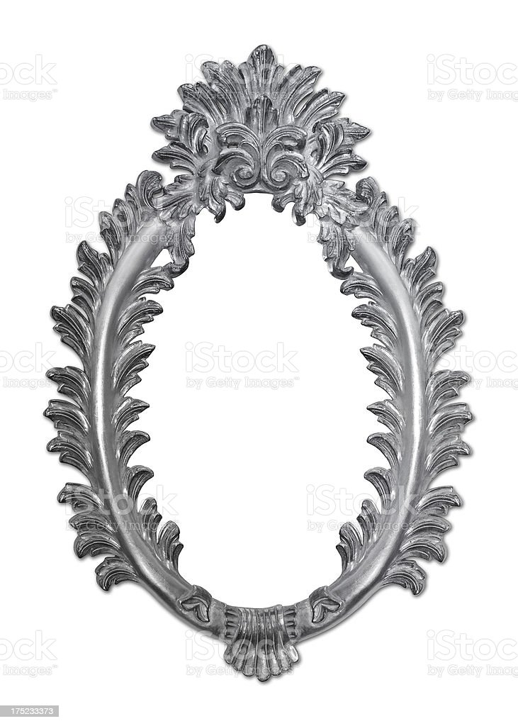 Ornate Picture Frame (Clipping Path) royalty-free stock photo
