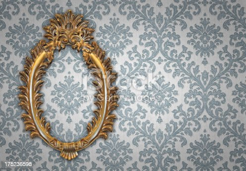 184949856 istock photo Ornate Picture Frame 175236598