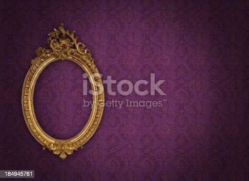 istock Ornate Picture Frame 184945761