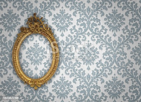 istock Ornate Picture Frame 184963288