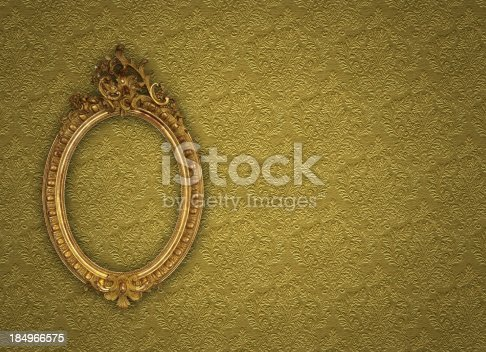 istock Ornate Picture Frame 184966575