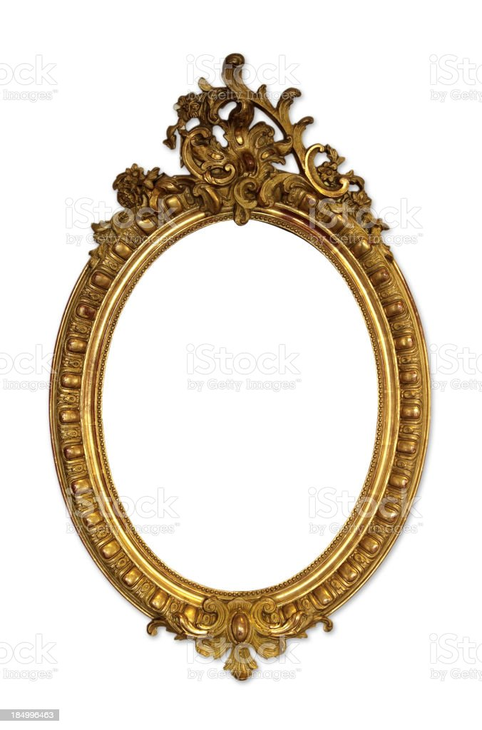 Ornate Picture Frame (Isolated) stock photo