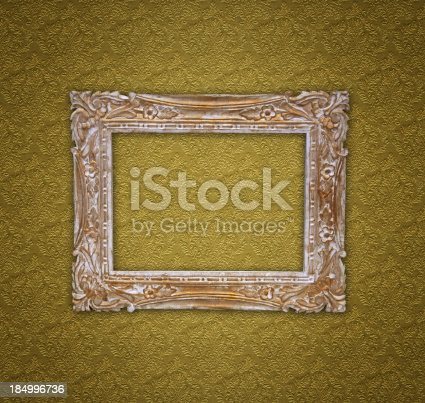 184949856 istock photo Ornate Picture Frame 184996736