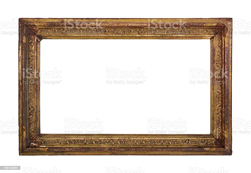Ornate Picture Frame (Clipping Path) stock photo