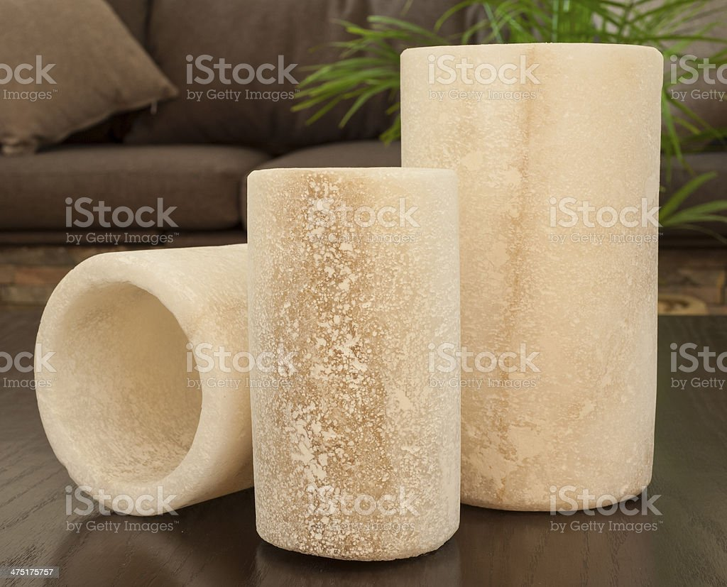 Ornate rock salt on a table in lounge royalty-free stock photo