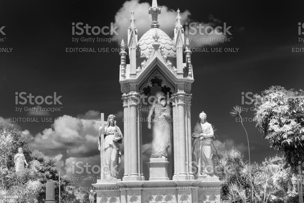 Ornate Sculpture in Colon Cemetery, Havana, Cuba stock photo