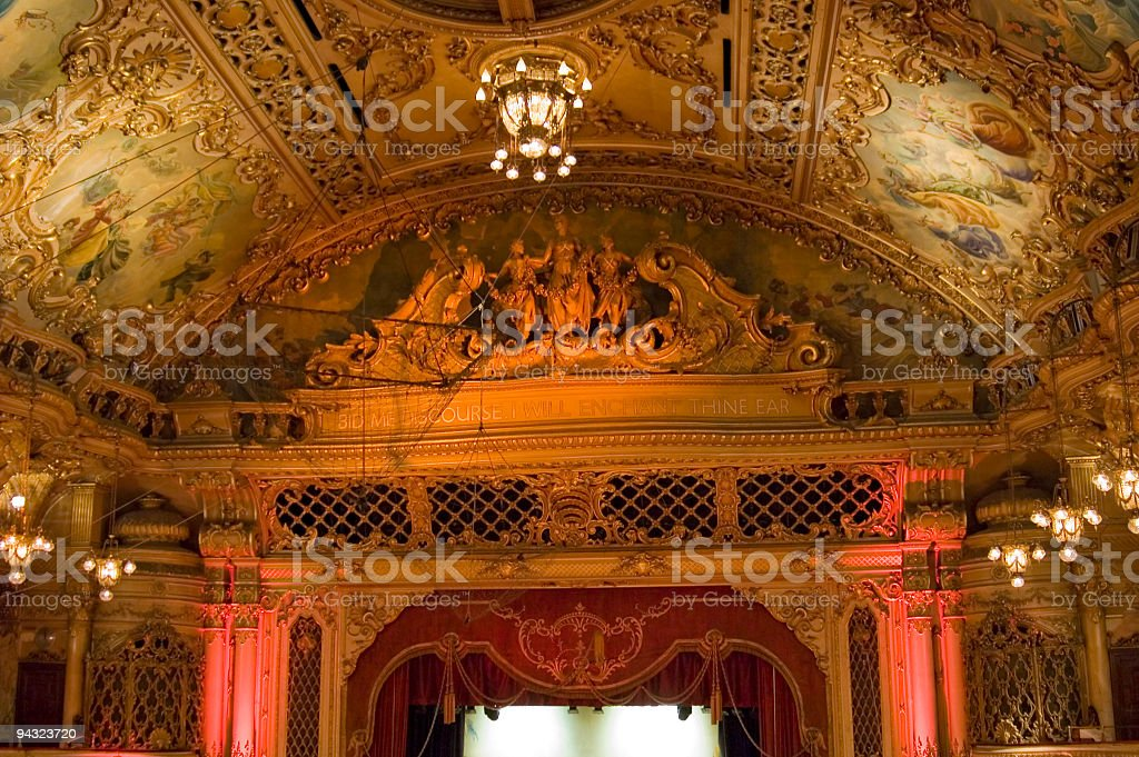 Ornate theater interior royalty-free stock photo