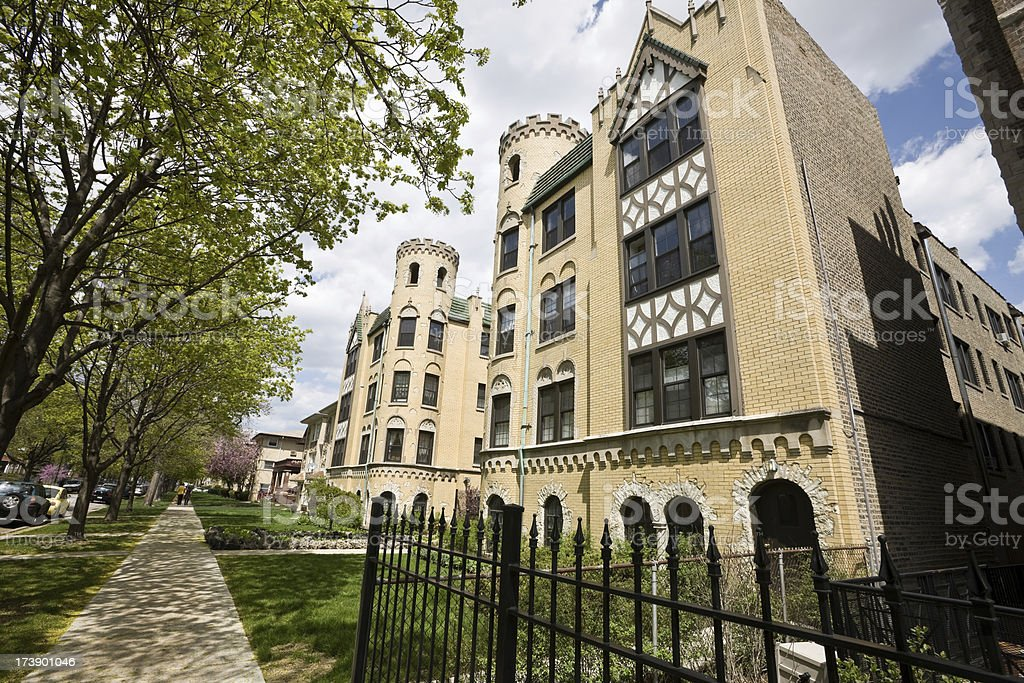 Ornate Vintage Chicago Apartment Building royalty-free stock photo