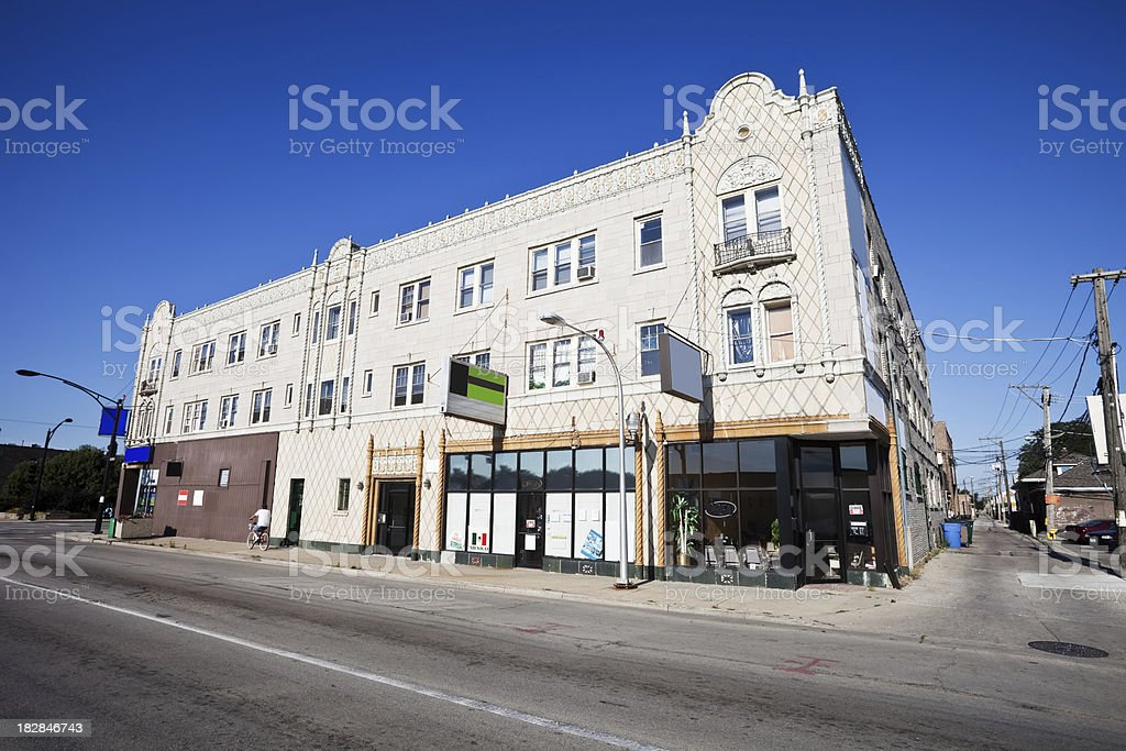 Ornate Vintage Shops in Clearing, Chicago royalty-free stock photo