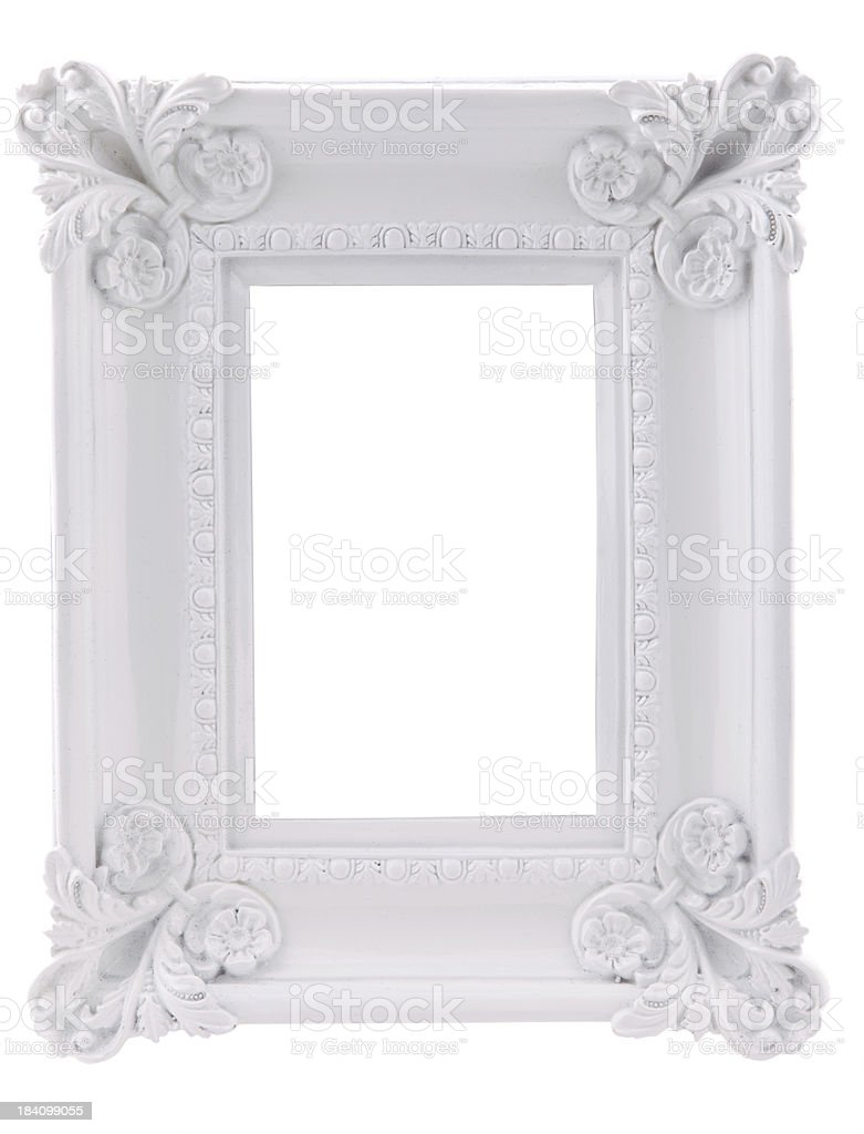 Ornate White Frame royalty-free stock photo