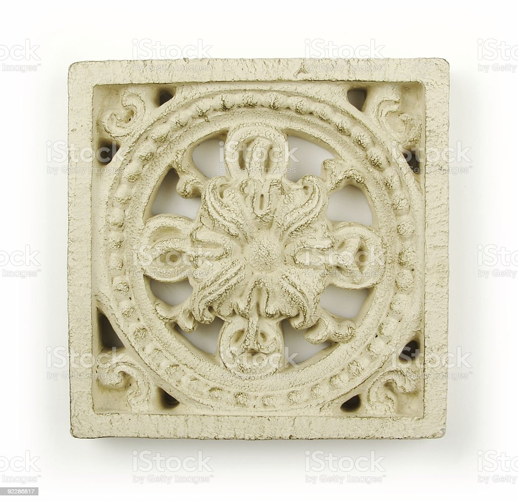 Ornate Wood Carving Ornament royalty-free stock photo