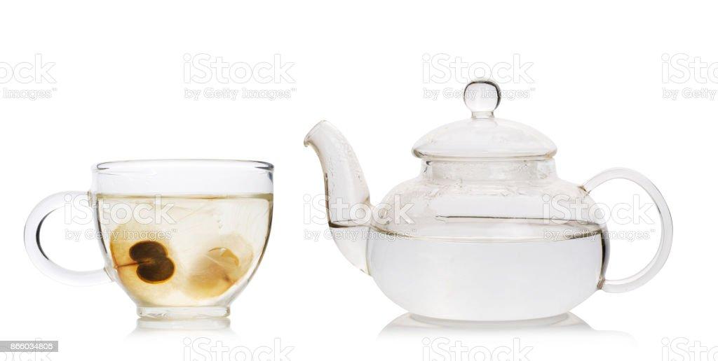Oroxylum indicum seed tea. Healthy drinking. stock photo