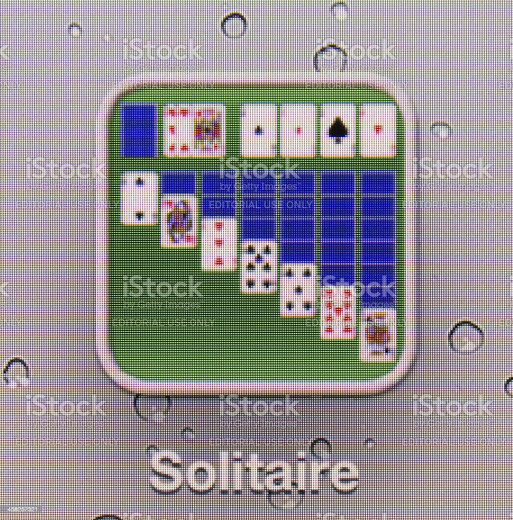 Solitare royalty-free stock photo