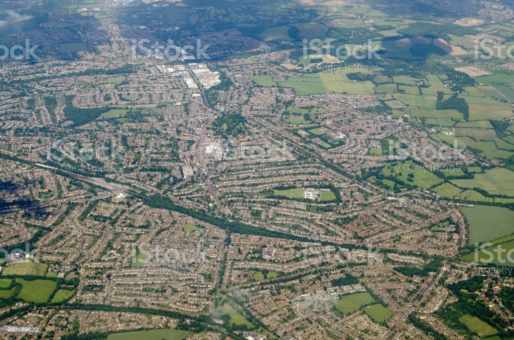 Orpington, Aerial View stock photo