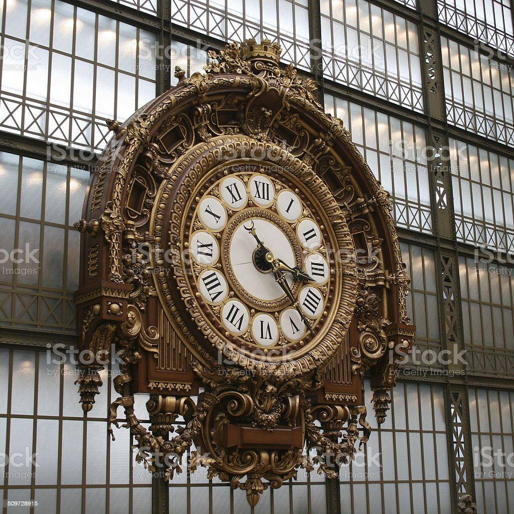 Orsay clock stock photo
