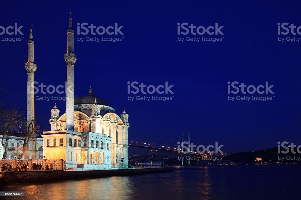 Ortakoy Buyuk Mecidiye Mosque stock photo