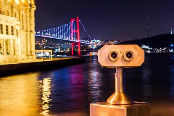 Ortaköy Camii ve Boğaz Köprüsü stok fotoğrafı