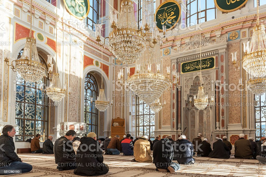 Ortakoy Mosque Interior stock photo